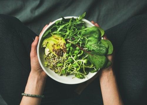 Salada para dietas coreanas