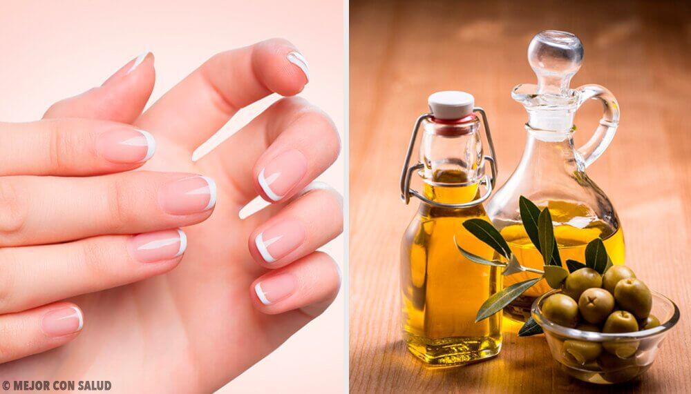 Azeite de oliva para unhas fracas