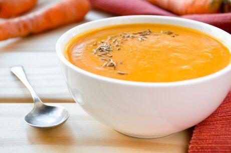Creme de cenoura com abóbora