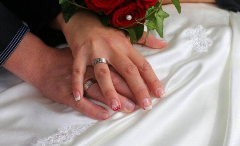 Decoração das unhas para o casamento