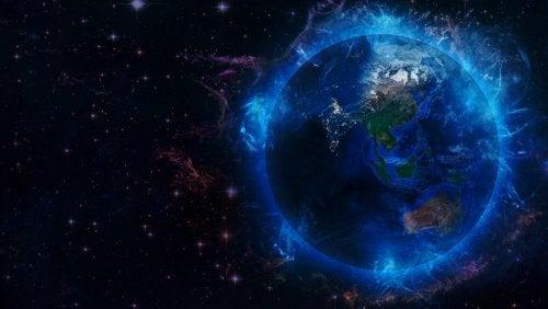 Energia em volta do planeta Terra