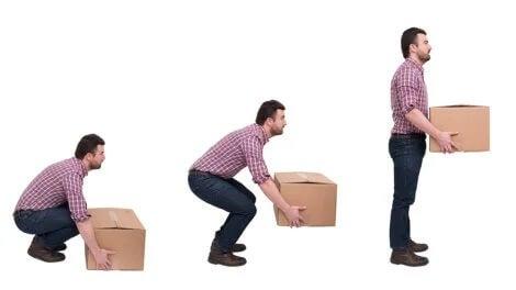 Higiene postural para levantar objetos