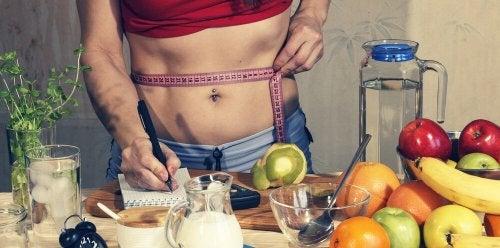 Alimentação saudável para perder medidas