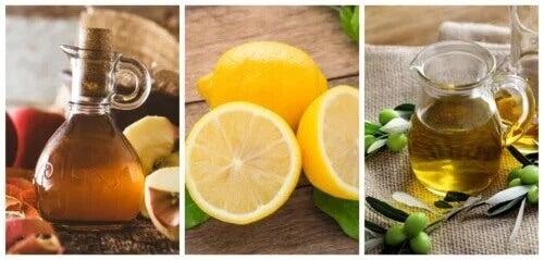 Limão, azeite de oliva e vinagre de maçã: um remédio ideal para os cálculos renais