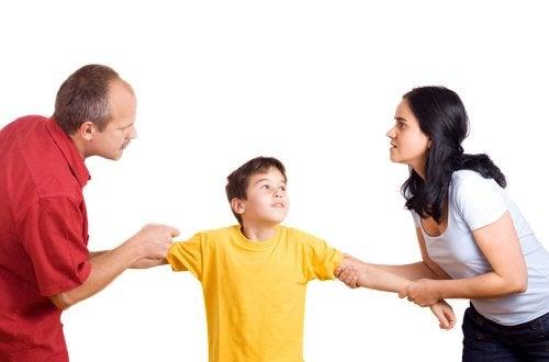 Pais brigando pelo filho