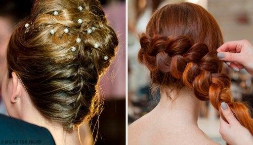 Penteado para noivas com tranças