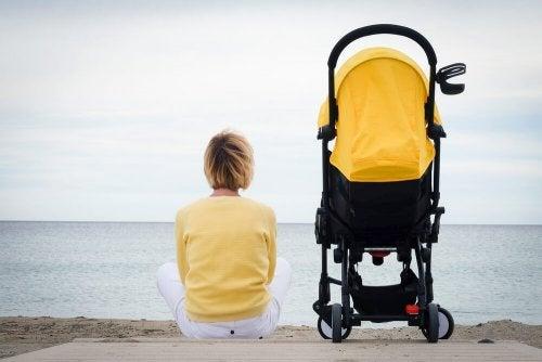Mãe em solidão com seu filho