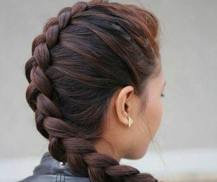 Trança bonita para o cabelo
