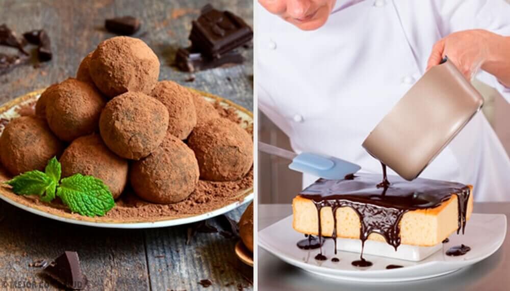 Receita fácil para preparar bolo de trufas