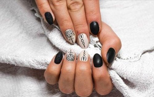 Decoração das unhas das mãos para o casamento
