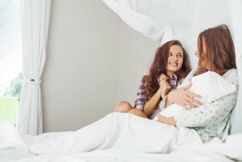 Ao dar à luz convide sua família