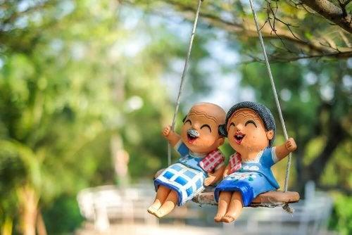 Bonecos em forma de avós