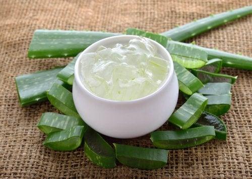 O gel de aloe vera ajuda a aliviar os sintomas do eczema