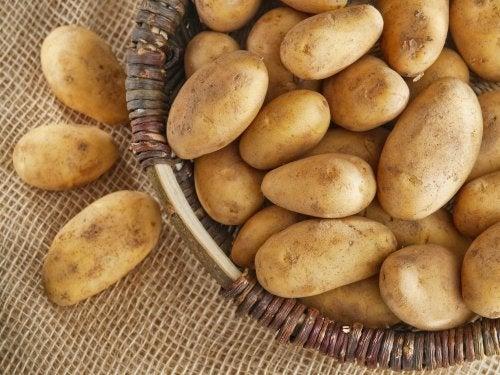 Cesta de batatas