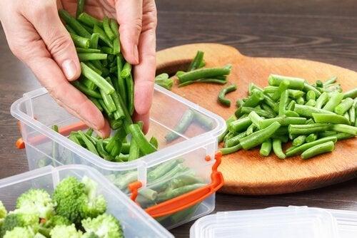 Preparar e armazenar vegetais
