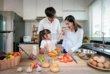 Cozinhar juntos: presentes para a família