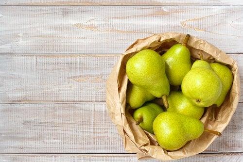 A pera é um ótimo ingrediente para uma bebida saciante para perder peso