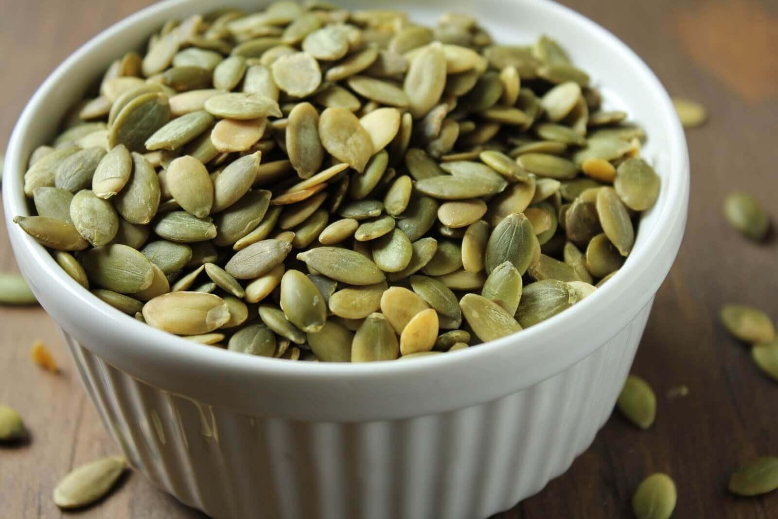 Pode adicionar fontes de ferro comendo sementes