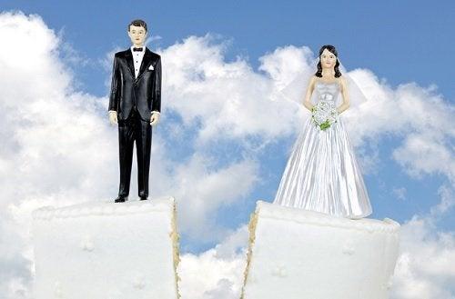 Imagem de um casamento que acabou