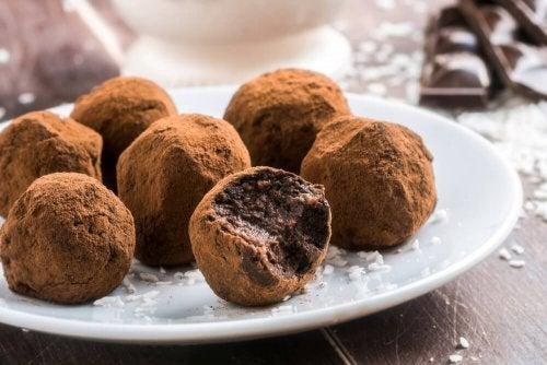 Receita fácil de trufas de chocolate