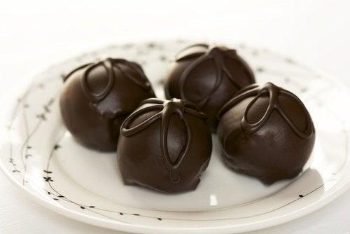 Trufas de chocolate tradicionais