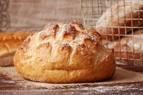 Pão sem amassar e sem glúten