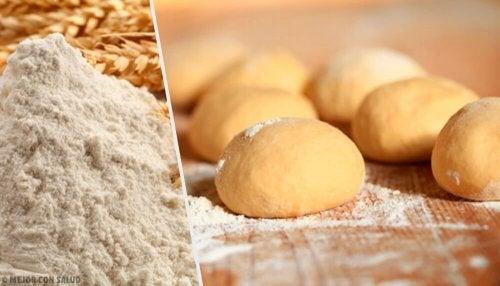 Farinha para fazer pão sem amassar e sem glúten