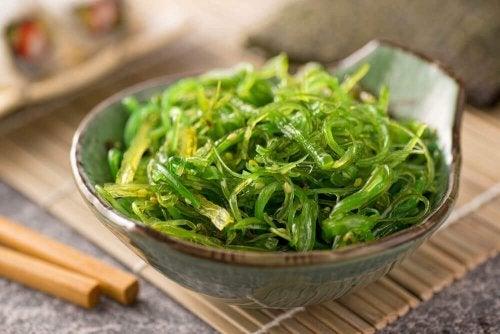 Receitas com algas: acompanhamento