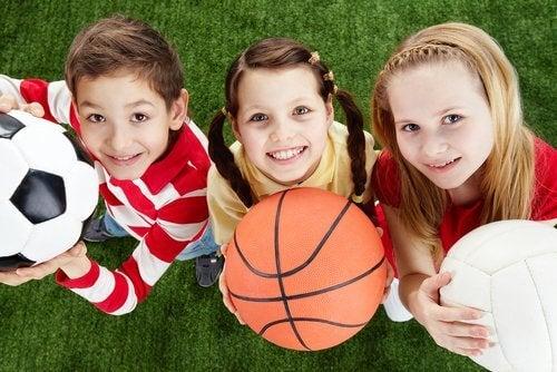 Não permita que as crianças mudem um esporte pela televisão
