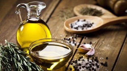 Remédio com azeite para a constipação infantil
