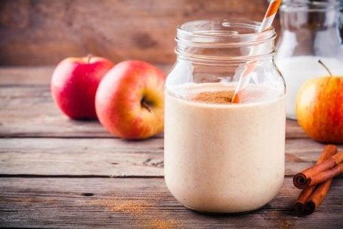 Bebida com proteínas à base de maçã