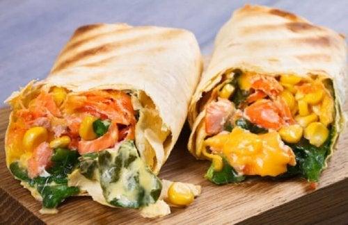 receitas de burritos caseiros com carne e vegetais
