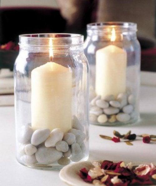 Ideias para centro de mesa: velas aromáticas