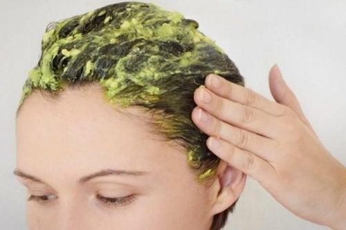 Máscara capilar para o efeito elétrico (frizz) no cabelo