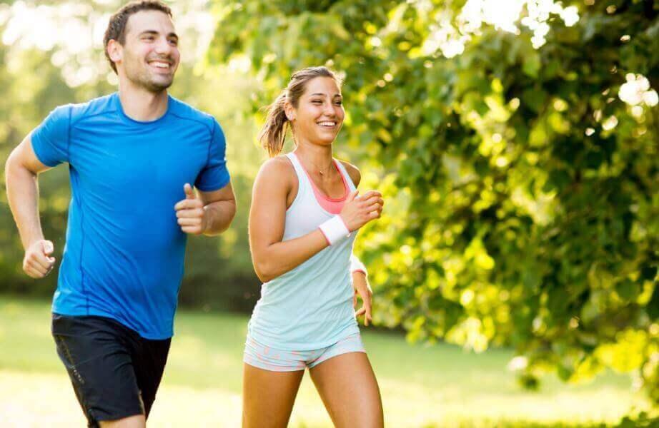 alimentação saudável e exercícios físicos