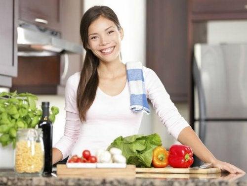 Uma boa alimentação inclui verduras