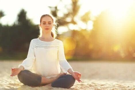 Meditação contra a sensação de cansaço.