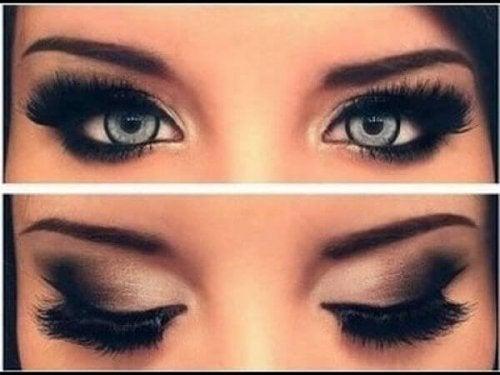 Não coloque delineador na linha interna do dos olhos se tiver olhos pequenos
