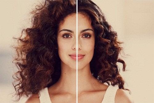 Diferença entre um cabelo com frizz e outro sem frizz