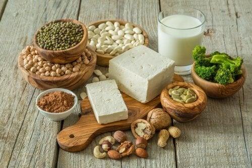 Dieta vegana para atletas à base de verduras e sementes