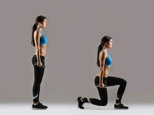 Exercícios anticelulite: avanço