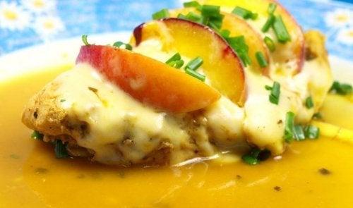 Receitas com pêssego: pato com molho