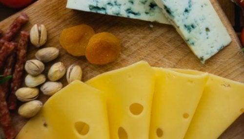 Pêssego com queijo