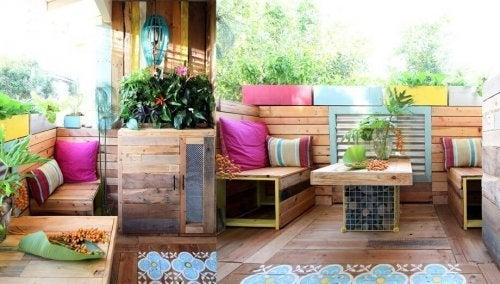 Terraço dos sonhos com móveis