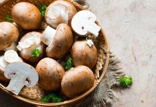 Espaguete com abóbora e champignons