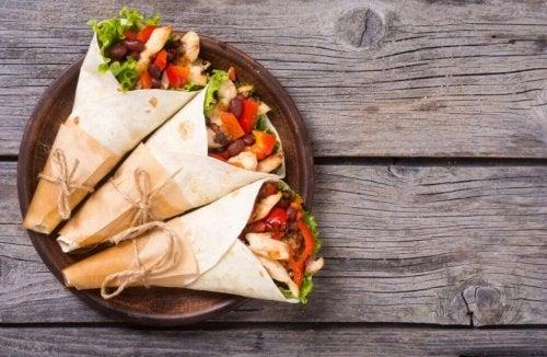3 receitas de burritos caseiros que você irá adorar