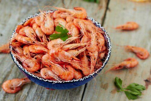 Receita para celíacos com camarão
