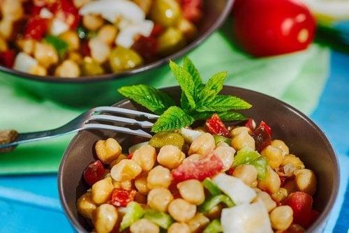 Porção da salada de legumes