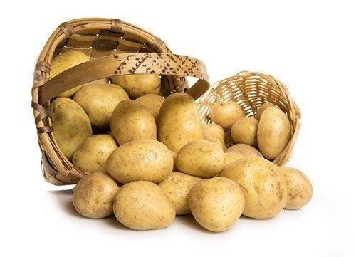 Batatas para o tratamento depilatório à base de lentilhas