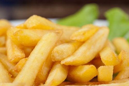 Batata frita gordurosa